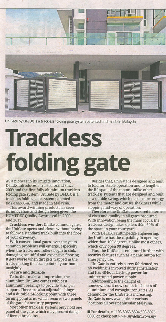 Trackless Folding Gate Supplier in Malaysia with Best Price & Quality
